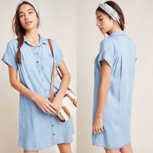 Anthro Cloth & Stone Janine Chambray Shirtdress